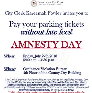 Parking Ticket Amnesty Day