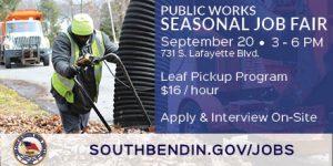 City's Department of Public Works to Host Seasonal Job Fair Thursday