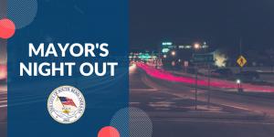 Next Mayor's Night Out Thursday, November 8